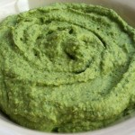 Almond Hummus with Spinach