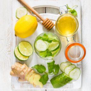 honey lemon ginger cucumber